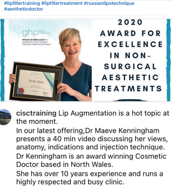 I really enjoyed giving this virtual lip filler talk to my Medical Aesthetic Peers.